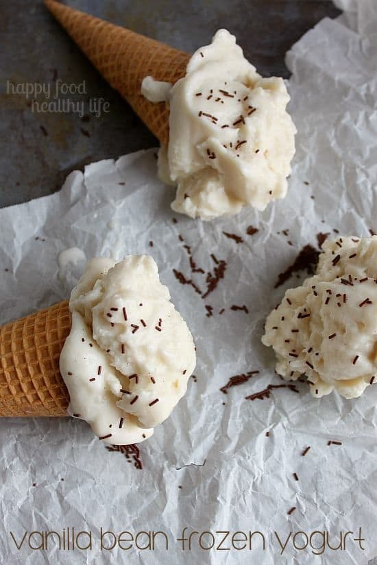 50 Very Vanilla Recipes: Vanilla Bean Frozen Yogurt