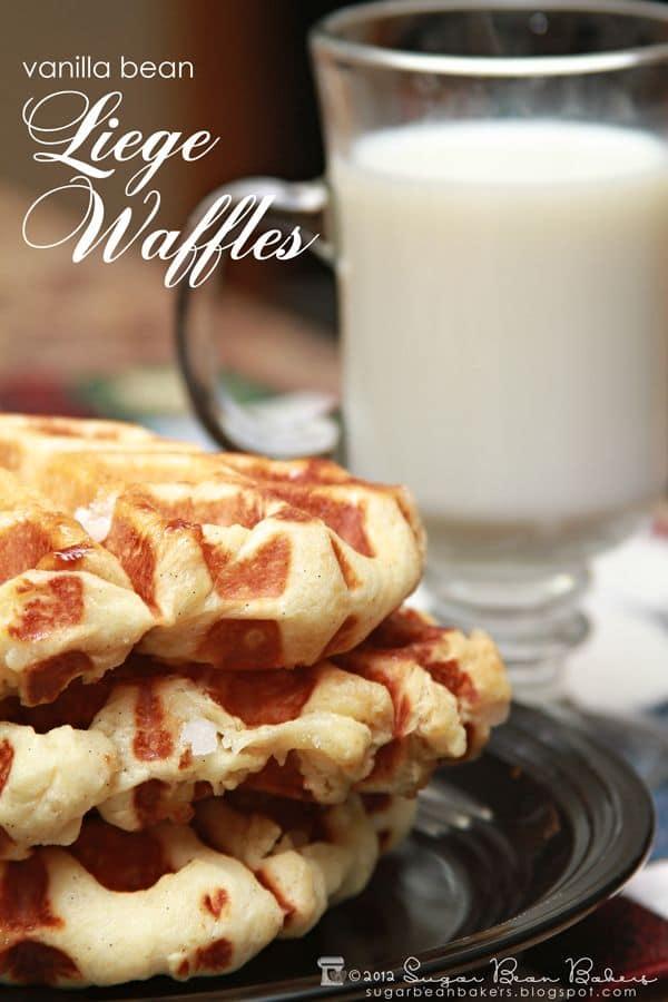 50 Very Vanilla Recipes: Vanilla Bean Liege Waffles