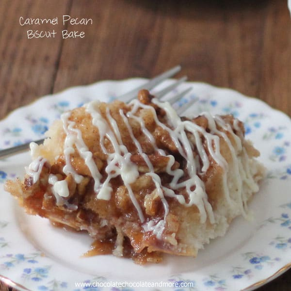 Caramel pecan Biscuit Bake-an easy breakfast treat!