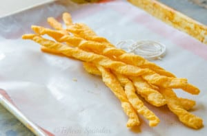 Puffed Cheddar Cheese Twists