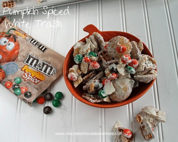 Pumpkin Spiced White Trash-a great way to clean out the snack cabinet!