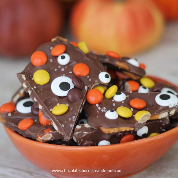 Salted Halloween Monster Bark-an easy treat that everyone will love!