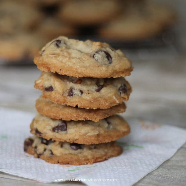 Kitchen Sink Cookies-a crisp cookie filled with everything but the kitchen sink!