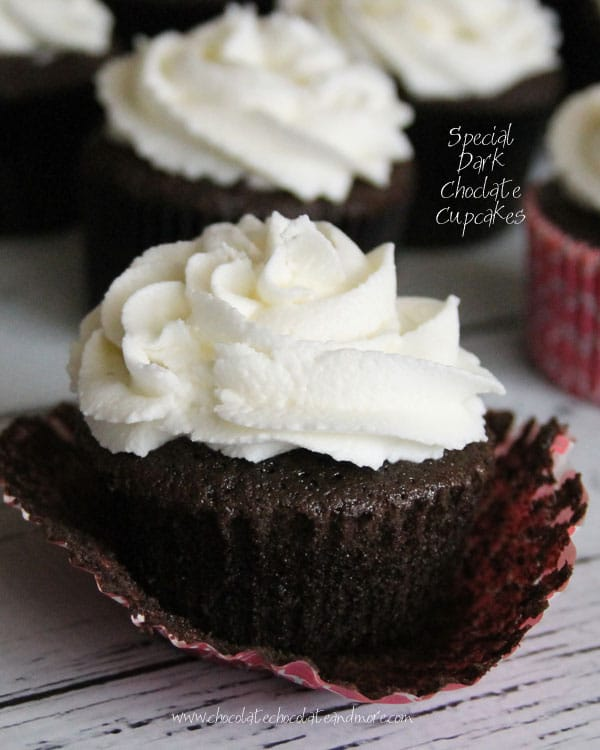 Special Dark Chocolate Cupcakes - Chocolate Chocolate and More!