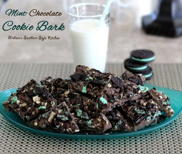 Mint Chocolate Cookie Bark-Melissa's Southern Style Kitchen