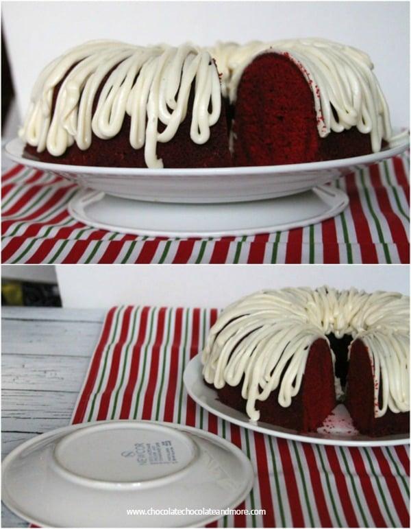 Red Velvet Bundt Cake-easy cake stand substitution