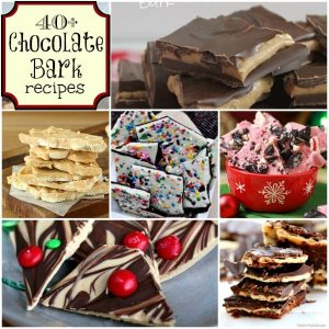 Chocolate Bark is the easiest candy you can make. Here are 40+ Chocolate bark recipes found at ChocolateChocolateandmore.com