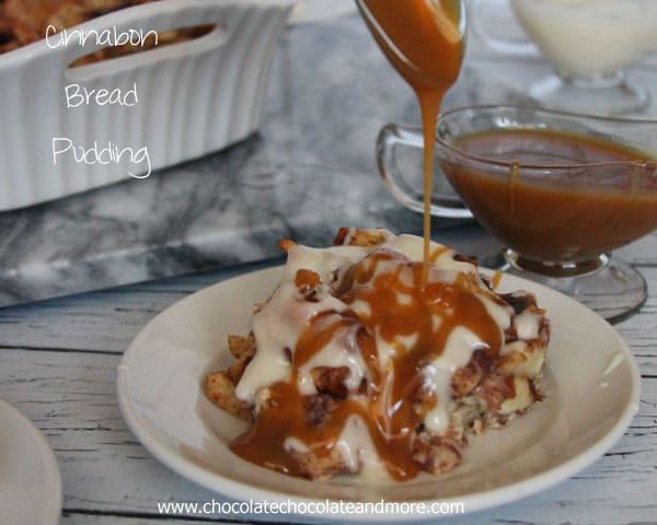 Cinnabon Bread Pudding-use Cinnabon Cinnamon Rolls as a quick shortcut for an easy breakfast treat!