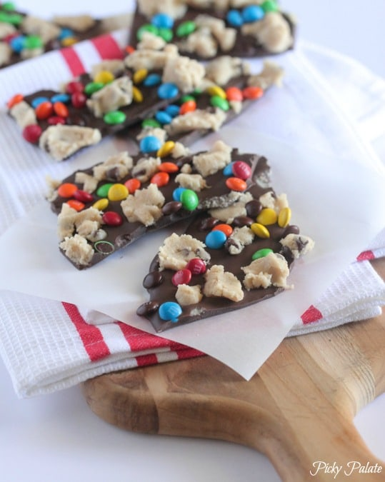 Cookie Dough Chocolate Bark from Picky Palate