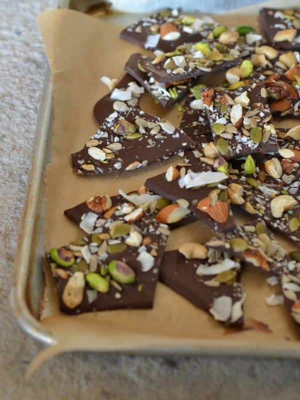 Salted Trail Mix Bark from Mountain Mama Cooks