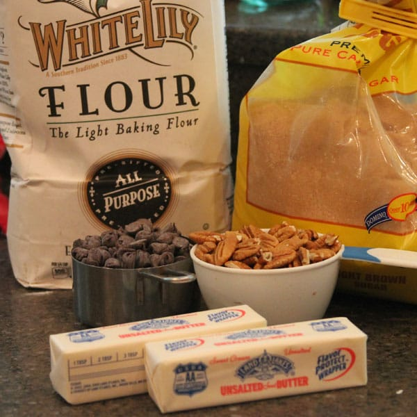 English Toffee Bars start with just a few simple ingredients