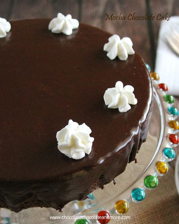 Mocha Fudge Cake-a coffee lovers dream, a moist cake infused with coffee topped with a rich mocha icing.