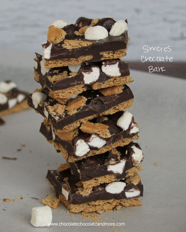 Smores Chocolate Bark Candy - Chocolate Chocolate and More!