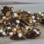 Smores Chocolate Bark Candy-Chocolate, marshmallows and graham crackers, how can you go wrong?