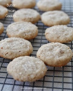 Butter Pecan Cookies-the combination of toasted pecans and butter makes this crisp cookie a classic.