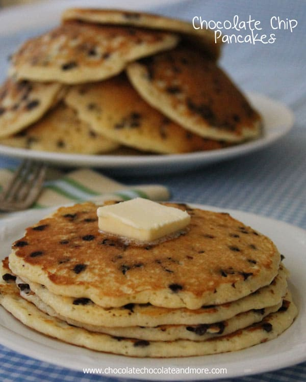 Chocolate Chip Pancakes - Chocolate Chocolate and More!