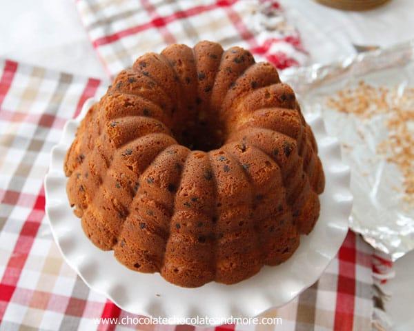 Chocolate Chip Coconut Bundt Cake - Chocolate Chocolate ...