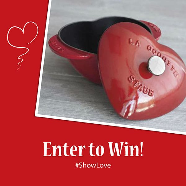 Cast Iron Staub Heart Coccette Giveaway from California Strawberries #showlove