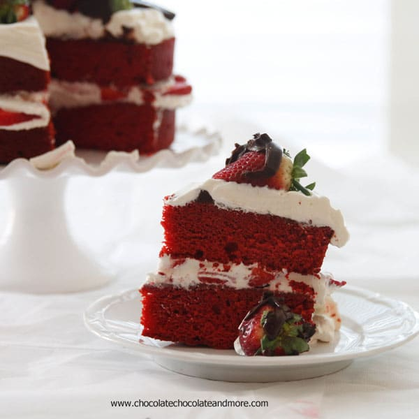 Red Velvet Strawberry Shortcake #sharelove
