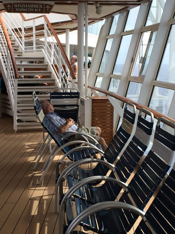 Oasis of the Seas deck lounging