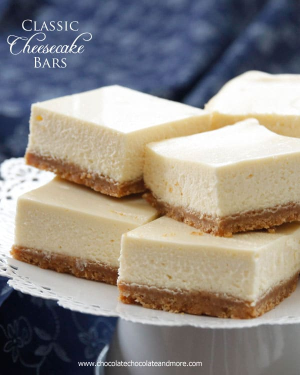 Classic Cheesecake Bars - Chocolate Chocolate and More!