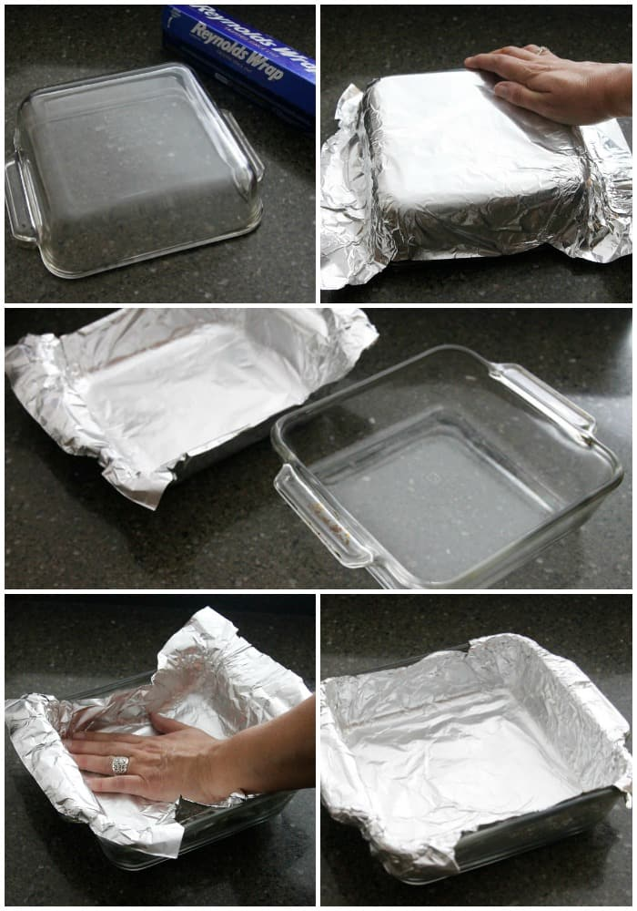 Easy way to line a pan with foil
