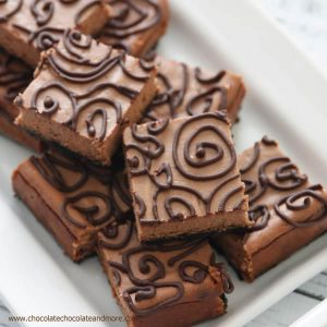 Triple Chocolate Cheesecake Bars-top