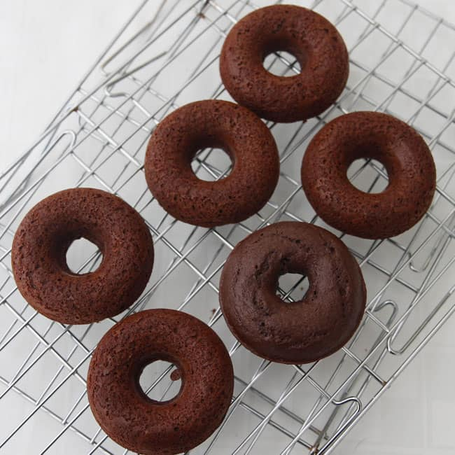 Chocolate Cake Donuts unfrosted