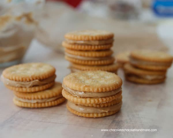 Peanut Butter Stuffed Ritz Crackers