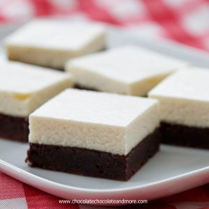 Brownie Bottom Cheesecake Bars-a fudgy brownie bottom topped with a classic cheesecake top, the best of two delicious desserts in every bite!