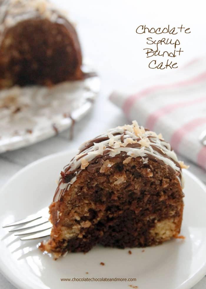 Chocolate Syrup Bundt Cake - Chocolate Chocolate and More!