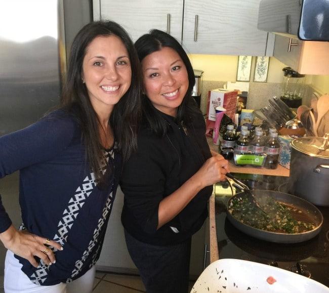 Gina Homolka (Skinnytaste) and Jaden Hair (Steamy Kitchen)