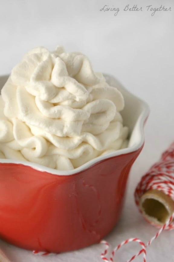 Cream Cheese Whipped Cream by livingbettertogether.com