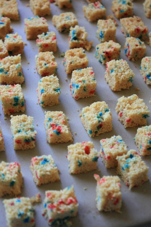 Homemade Cake Croutons by munchkinmunchies.com