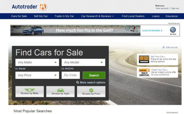 Autotrader Search Box-feel drivetastic!
