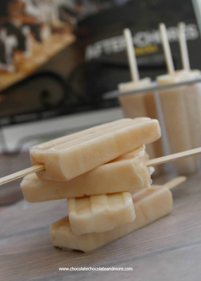 Caramel  Popsicle Recipe-a simple custard made with milk and sugar are the base for these sweet summer treats!