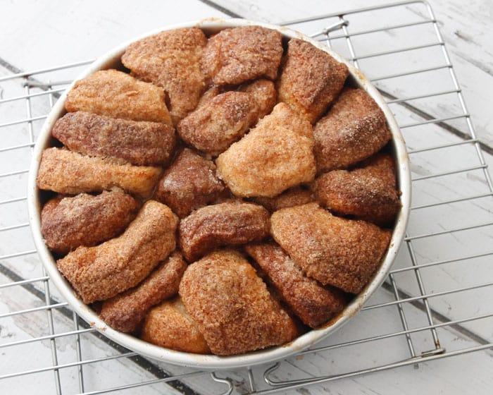 Caramel Pecan Sticky Buns baked