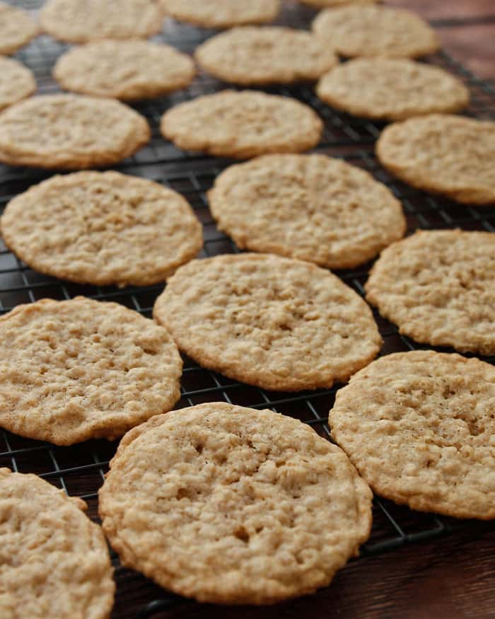 Chewy Oatmeal Coconut Cookies are hard to resist while cooling