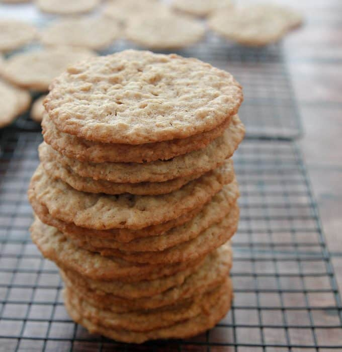 Chewy Oatmeal Coconut Cookies
