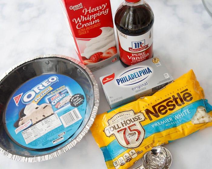 ingredients for White Chocolate Velvet Pie