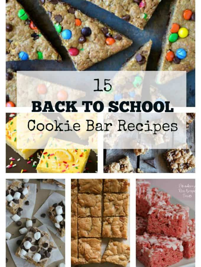 15 Back to School Cookie Bar Recipes