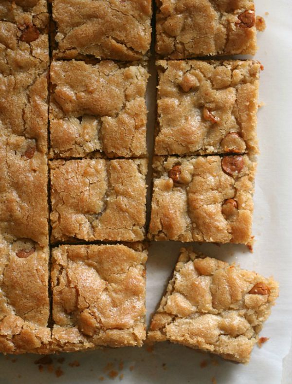 Butterscotch Blondies by jensfavoritecookies.com