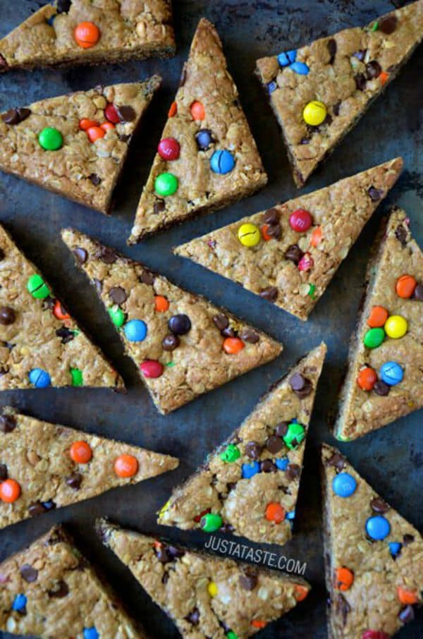 Monster Cookie Bars by justataste.com