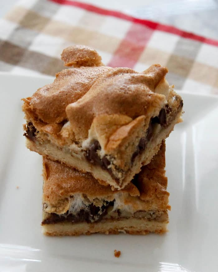 Mud Hen Bars-a cookie crust layered with pecans, chocolate chips and ...