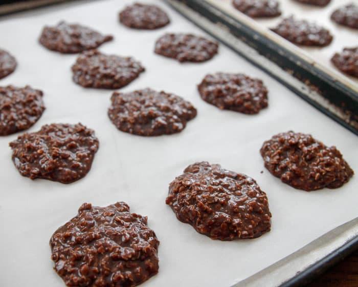 Chocolate Coconut No Bake Drop Cookies