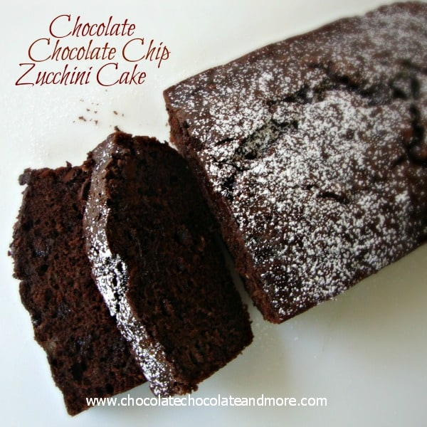 Chocolate Chocolate Chip Zucchini Cake by chocolatechocolateandmore.com