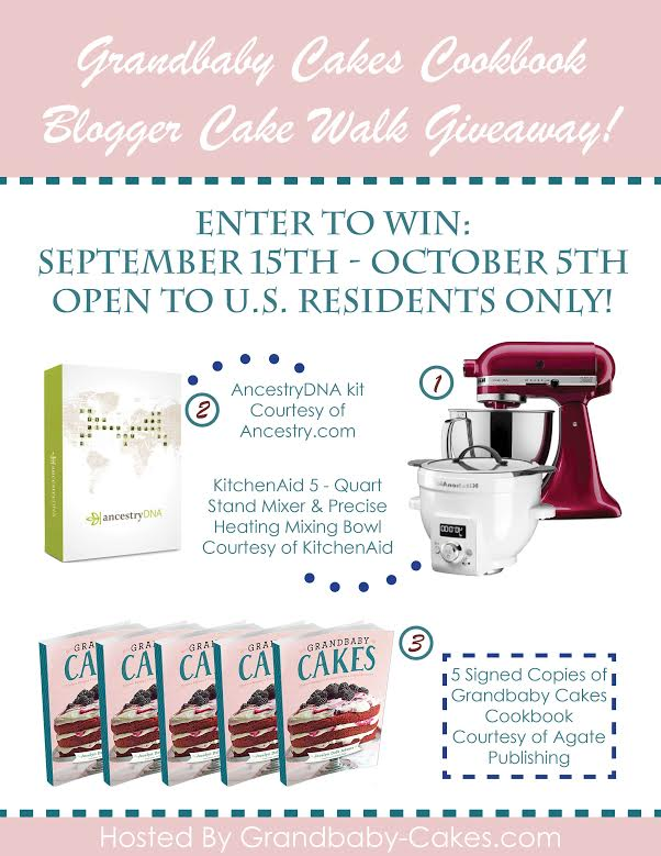 Cakewalk Giveaway to celebreate the launch of the Grandbaby Cakes Cookbook!