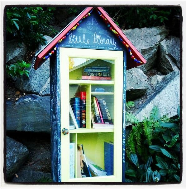 Lending Library box in front of Kurt Cobain's house in Seattle, Washington