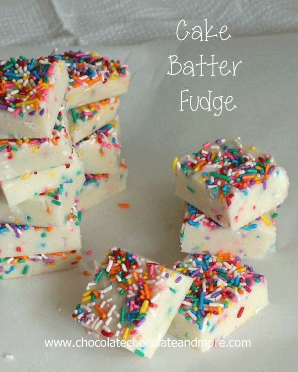 Cake Batter Fudge by chocolatechocolateandmore.com