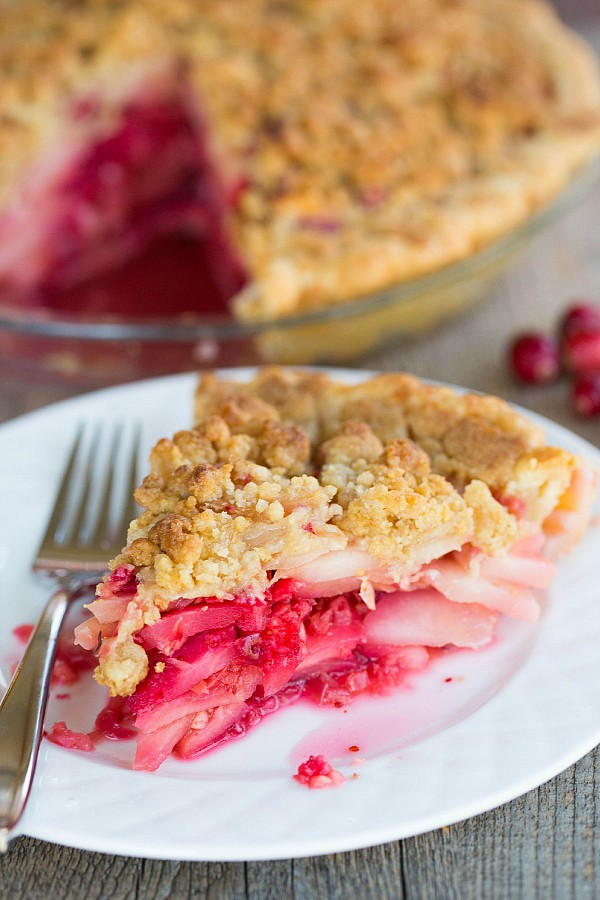Cranberry-Ginger Pear Pie by browneyedbaker.com